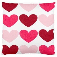 Valentine S Day Hearts Large Cushion Case (One Side)