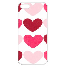 Valentine S Day Hearts Apple iPhone 5 Seamless Case (White)