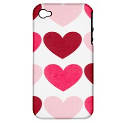 Valentine S Day Hearts Apple iPhone 4/4S Hardshell Case (PC+Silicone)