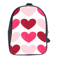 Valentine S Day Hearts School Bags (XL)