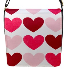 Valentine S Day Hearts Flap Messenger Bag (S)