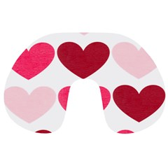 Valentine S Day Hearts Travel Neck Pillows