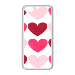 Valentine S Day Hearts Apple iPhone 5C Seamless Case (White)