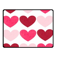 Valentine S Day Hearts Double Sided Fleece Blanket (Small)