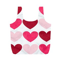 Valentine S Day Hearts Full Print Recycle Bags (M)