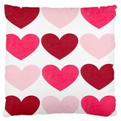 Valentine S Day Hearts Standard Flano Cushion Case (Two Sides)