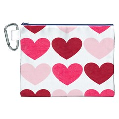 Valentine S Day Hearts Canvas Cosmetic Bag (xxl)