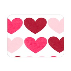 Valentine S Day Hearts Double Sided Flano Blanket (Mini)