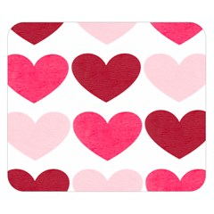 Valentine S Day Hearts Double Sided Flano Blanket (Small)