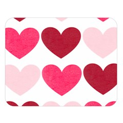 Valentine S Day Hearts Double Sided Flano Blanket (Large)