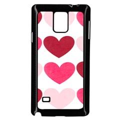 Valentine S Day Hearts Samsung Galaxy Note 4 Case (Black)