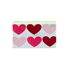 Valentine S Day Hearts Cosmetic Bag (XS)
