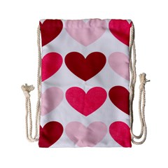 Valentine S Day Hearts Drawstring Bag (Small)