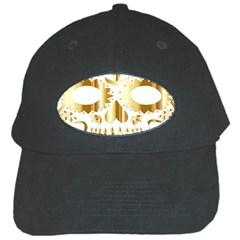 Sugar Skull Bones Calavera Ornate Black Cap