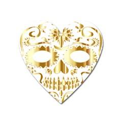 Sugar Skull Bones Calavera Ornate Heart Magnet