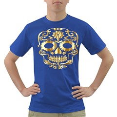 Sugar Skull Bones Calavera Ornate Dark T-Shirt