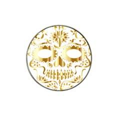 Sugar Skull Bones Calavera Ornate Hat Clip Ball Marker