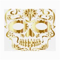 Sugar Skull Bones Calavera Ornate Small Glasses Cloth