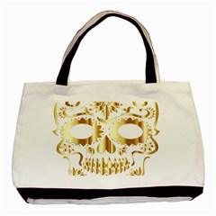 Sugar Skull Bones Calavera Ornate Basic Tote Bag