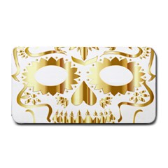 Sugar Skull Bones Calavera Ornate Medium Bar Mats