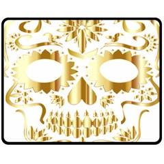 Sugar Skull Bones Calavera Ornate Fleece Blanket (Medium)