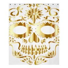 Sugar Skull Bones Calavera Ornate Shower Curtain 60  x 72  (Medium)