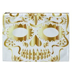Sugar Skull Bones Calavera Ornate Cosmetic Bag (XXL)