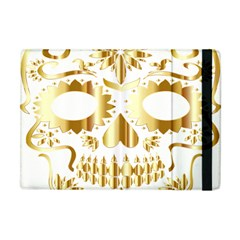 Sugar Skull Bones Calavera Ornate Apple iPad Mini Flip Case