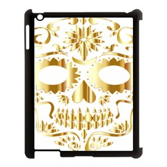 Sugar Skull Bones Calavera Ornate Apple iPad 3/4 Case (Black)