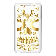 Sugar Skull Bones Calavera Ornate Samsung Galaxy Note 3 N9005 Case (White)