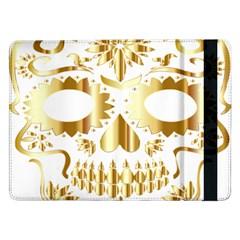 Sugar Skull Bones Calavera Ornate Samsung Galaxy Tab Pro 12.2  Flip Case