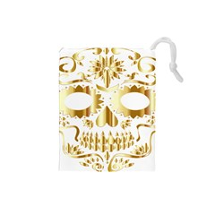 Sugar Skull Bones Calavera Ornate Drawstring Pouches (Small)