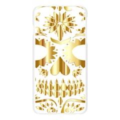 Sugar Skull Bones Calavera Ornate Apple Seamless iPhone 6 Plus/6S Plus Case (Transparent)