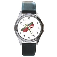 Grasshopper Insect Animal Isolated Round Metal Watch