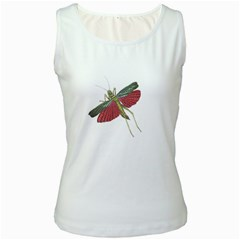 Grasshopper Insect Animal Isolated Women s White Tank Top