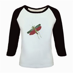 Grasshopper Insect Animal Isolated Kids Baseball Jerseys