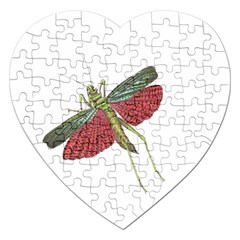 Grasshopper Insect Animal Isolated Jigsaw Puzzle (Heart)