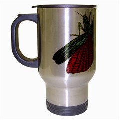 Grasshopper Insect Animal Isolated Travel Mug (Silver Gray)