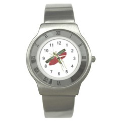 Grasshopper Insect Animal Isolated Stainless Steel Watch