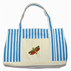 Grasshopper Insect Animal Isolated Striped Blue Tote Bag