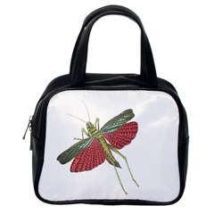 Grasshopper Insect Animal Isolated Classic Handbags (One Side)