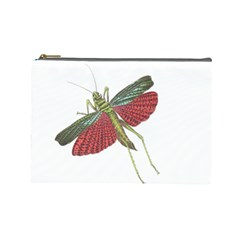 Grasshopper Insect Animal Isolated Cosmetic Bag (Large)