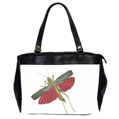 Grasshopper Insect Animal Isolated Office Handbags (2 Sides)