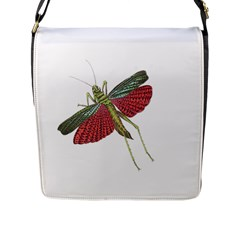 Grasshopper Insect Animal Isolated Flap Messenger Bag (L)