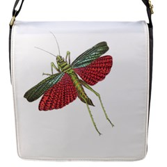 Grasshopper Insect Animal Isolated Flap Messenger Bag (S)