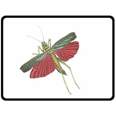 Grasshopper Insect Animal Isolated Double Sided Fleece Blanket (Large)