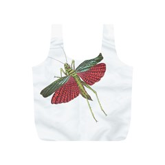 Grasshopper Insect Animal Isolated Full Print Recycle Bags (S)