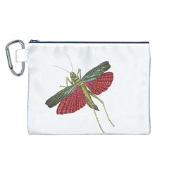 Grasshopper Insect Animal Isolated Canvas Cosmetic Bag (L)