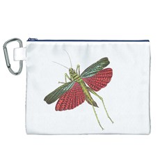 Grasshopper Insect Animal Isolated Canvas Cosmetic Bag (XL)