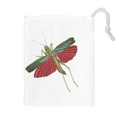 Grasshopper Insect Animal Isolated Drawstring Pouches (Extra Large)